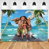 MMY 5x3ft Moana Maui Beach Theme Backdrop Baby Shower Girl Birthday Party Background Cake Table Dress-up Large Banner Supplies Photobooth Props kids electronics Jan, 2021