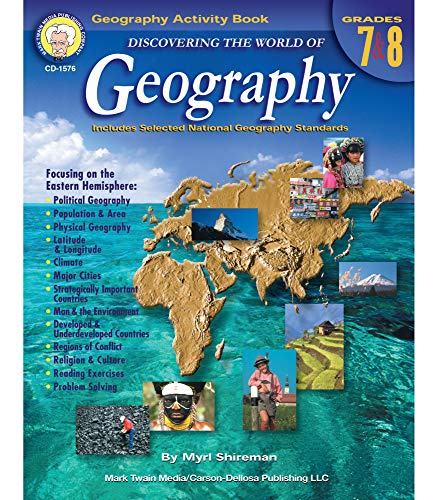 Mark Twain Media | Geography Resource Workbook | 7th–8th Grade, 128pgs (Discovering the World of G