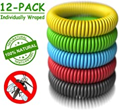 Mosquito Repellent Bracelets - [320Hrs of Protection] Natural Indoor and Outdoor Insect Repel for Adults and Babies - Pest Control Bug Repeller Band - Works for Man Woman Kid Children Teenager