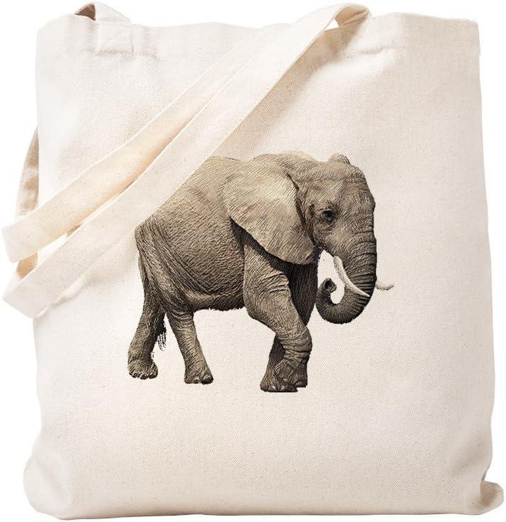 CafePress Elephant Tote Bag Natural Canvas Tote Bag, Reusable Shopping Bag