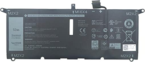 Dentsing 7.6V 52Wh/6500mAh DXGH8 Laptop Battery Compatible with Dell XPS 13 9370 9380 0H754V FHD 13-9370-D1705S Series Not...