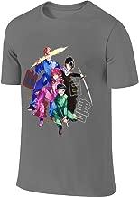 AHDDO Black Funny Cool Yu Yu Hakusho Men's Short Sleeve T-Shirt