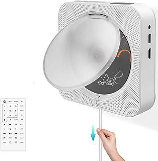 comprar comparacion Reproductor de CD / DVD portátil con Bluetooth Reproductor de CD montable en la Pared Altavoces de Alta fidelidad incorpor...