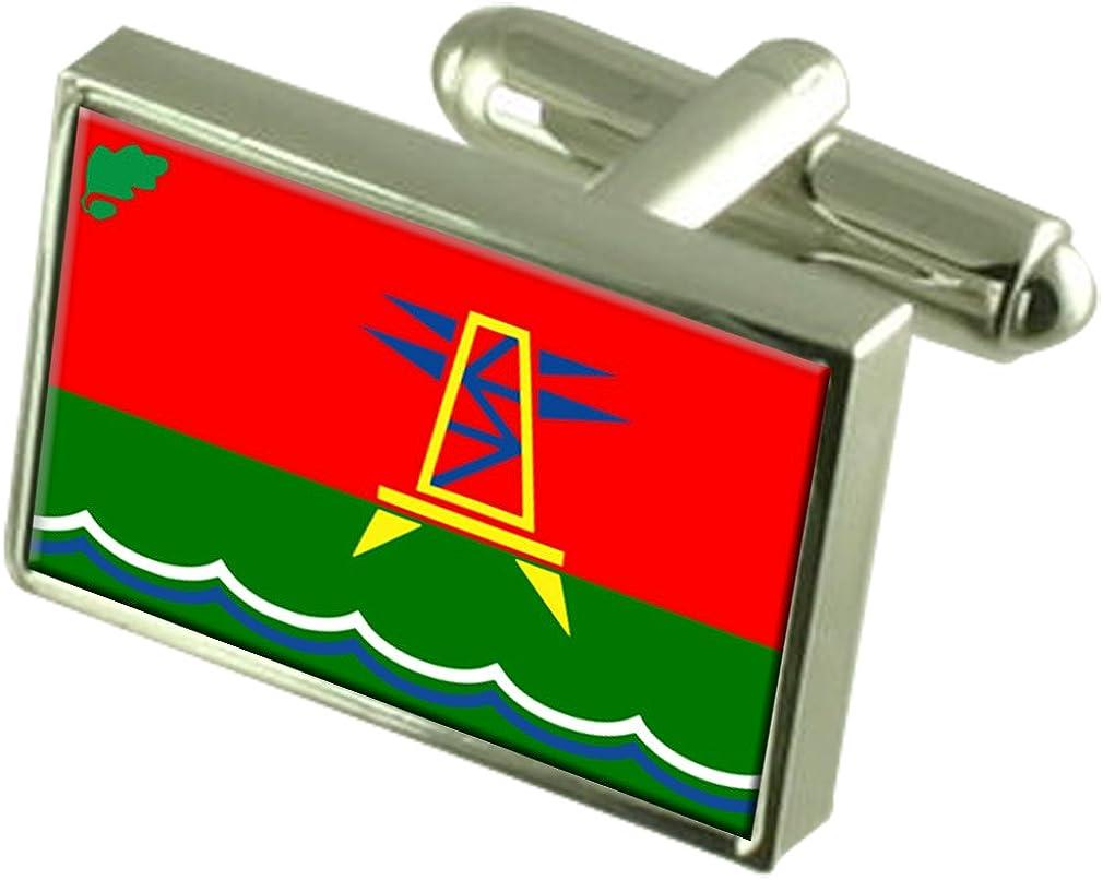 Dubasari Max 89% OFF City Moldova Sterling Silver Bo Engraved Cufflinks Flag It is very popular