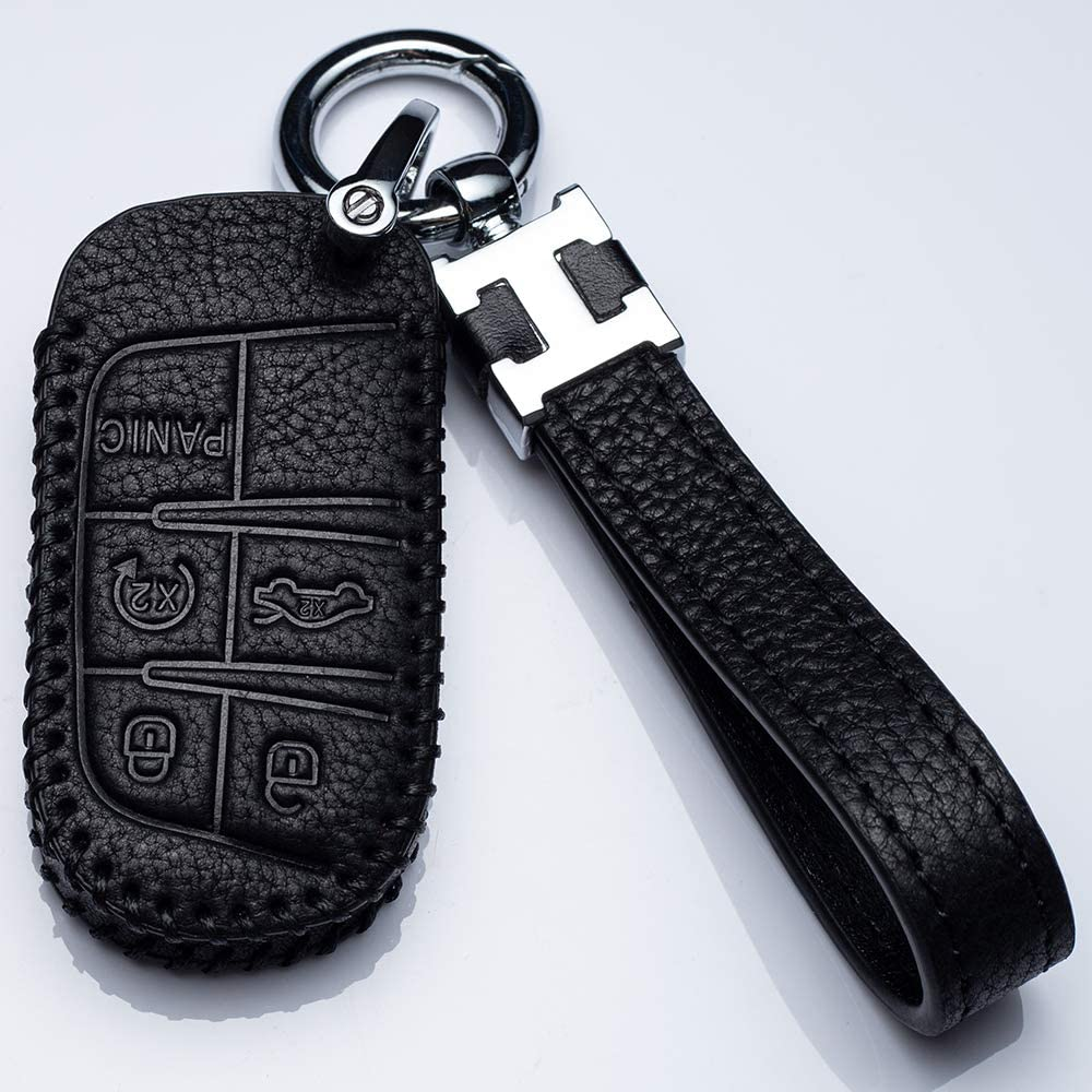 Leather Car Key Fod Fresno Mall Cover Protector Case Keyless Los Angeles Mall Fob Holder