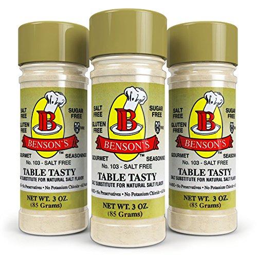 Bensons - 3-Pack Table Tasty No Potassium Chloride Salt Substitute -...