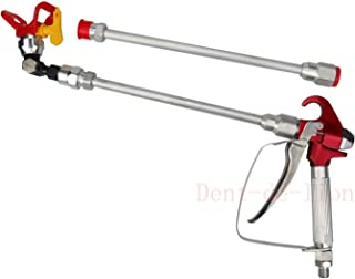 Paint Spray Gun Airless High Pressure XS-818 + Nozzle Seat +2 x 30CM (11.81inch) Extension Rod for Sprayer Airless Nozzle Extension Spray Gun Paint