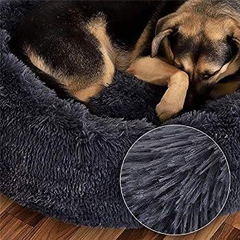 Puppy Love Panier Chien, Coussin Chien Anti Stress XXXL Dehoussable,Paniers Et Mobilier pour Chiens, Lit Moelleux Rond pour Chien, Lavable, Confortable (品牌:HJHY)