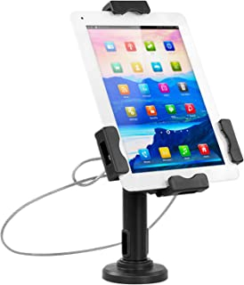 Mount-It! Secure Universal Tablet POS Kiosk with Wall Bracket Add-on   Locking Tablet Stand with Adjustable Clamp for iPad, iPad Mini, Samsung Galaxy Tab, Surface Go and 7.9