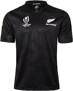 DZHTSWDラグビージャージ、トレーニングシャツ、男性と女性のための2019年ワールドカップオールブラックス、アウトドアレジャーTシャツ
