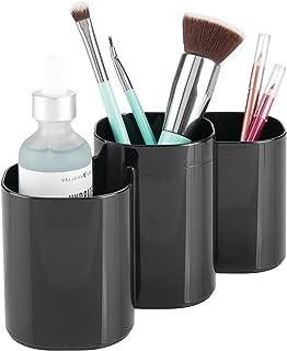 mDesign organisateur maquillage pratique – accessoire décoratif de rangement maquillage, pour pinceaux et mascara – rangem...