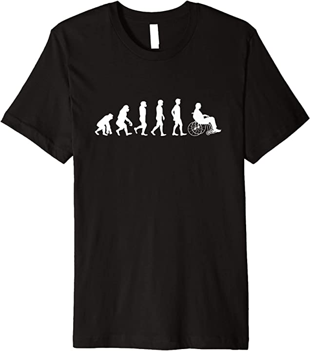'Evolution Of Wheelchair' Hilarous Wheelchair Gift Shirt