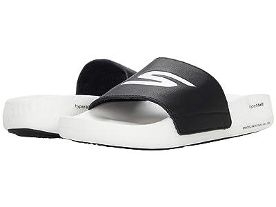 SKECHERS Go Hyper Slide (Black/White) Women