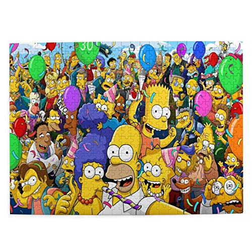 shishan The Simpsons Wooden Picture Puzzle 500 Pieces Jigsaw Puzzle Toy for Adult Kids Boys Girls