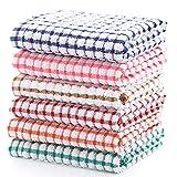 YNERHAI Kitchen Dish Towels, 100% Cottton Kitchen Towels, Dish Towels 16 Inch x 25 Inch (for Kitchen...
