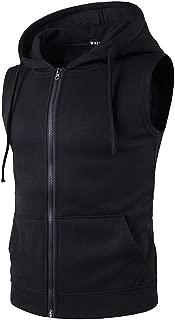 Mens Solid Sleeveless Zip Up Vest
