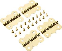 Nologo SSB-JIAJUPJ, 4 stuks 40x33mm vlinder deurbeslag scharnier 4 gaten kabinet compartiment sieradendoos decoratief scha...