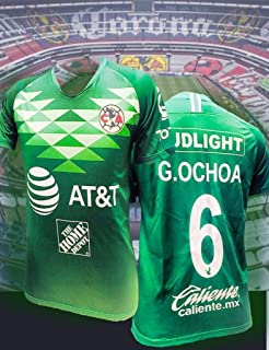 Soccer New Club America Verde Green Jersey Ochoa Men Regular Fit 2019-2020