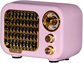 $29 » Sponsored Ad - Retro Radio Bluetooth Speaker Pink Old Fashioned Classic Style Bluetooth Speaker Creative Appearance Gift f...