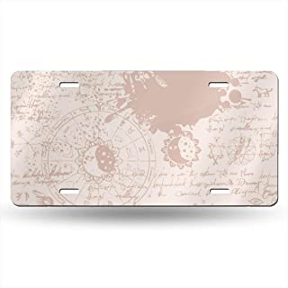 Fieanxi Texture with Constellations and Signs of Zodiac 6X12 Inches Feel Metal Tin Sign Plaque for Home,Bathroom and Bar Wall Decor Car Vehicle License Plate Souvenir Car Decoration
