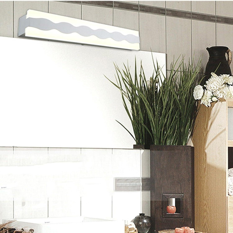 LED-Spiegel vorne Licht Einfache Acryl Badezimmer Spiegelschrank Lichter Nebel LED Wandleuchte (Farbe  Weies Licht-43 cm)