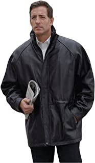 REED Men's 34'' Raglan Car Coat in Imported Lamb with Zip-Out Lining