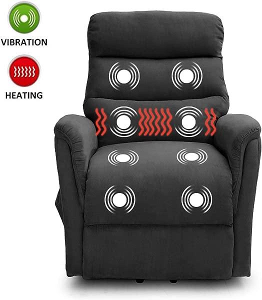 Lifesmart L6115F51 灰色马蹄莲 Casa 超舒适热按摩和远程烟雾灰色升降椅躺椅大号