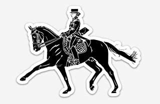 BellavanceInk Cowgirl Rider On A Western Horse Vinyl Sticker Pen and Ink Illustration