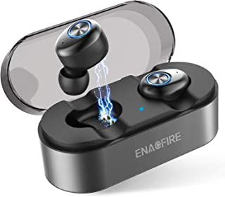 Auriculares Bluetooth, ENACFIRE E18 Auriculares Bluetooth Inalámbricos Mini Twins Estéreo In-Ear Bluetooth 5.0 con Caja de Carga Portátil Y Micrófono Integrado para iPhone y Android