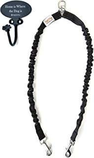 Mighty Paw BungeeX2 Double Dog Leash, Premium Quality Dog Leash, Comfort Force Absorbing Bungee