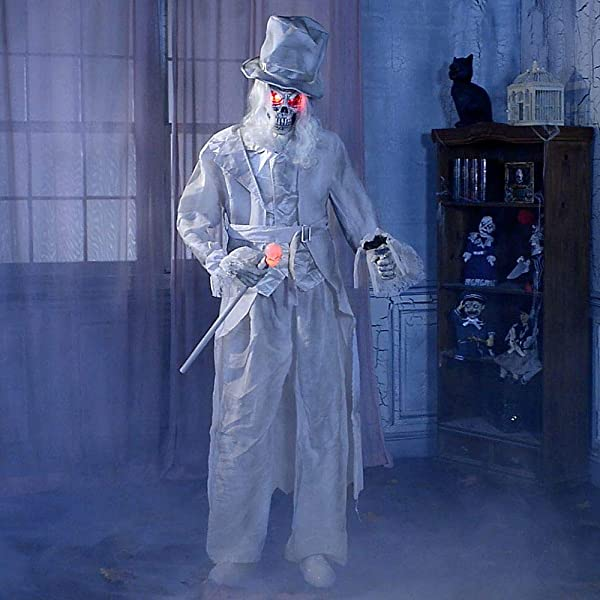 Party City Animated Ghostly Gentleman Halloween Animatronic Prop Indoor And Outdoor Decor