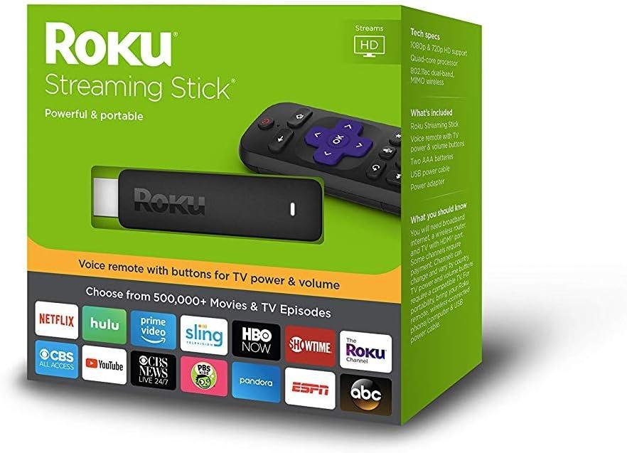 Roku 3800RW Streaming Stick GEN6 with Voice Remote - Black