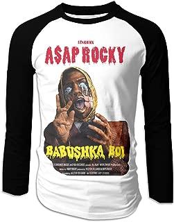 ASAP Rocky Babushka Boi Men's Cool Long Sleeve Baseball T-Shirts Black