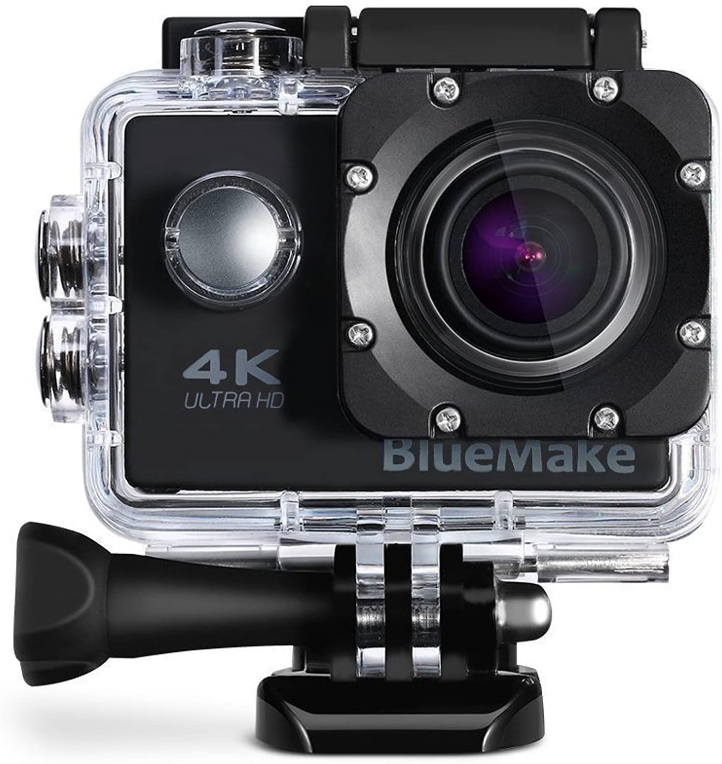 Ultra 4K Wifi Waterproof Action Camera Sport Extreme Mini Helmet Cam Recorder Marine Diving 2.0 Lcd 170 Degree Wide Lens With Two Batteries  Black