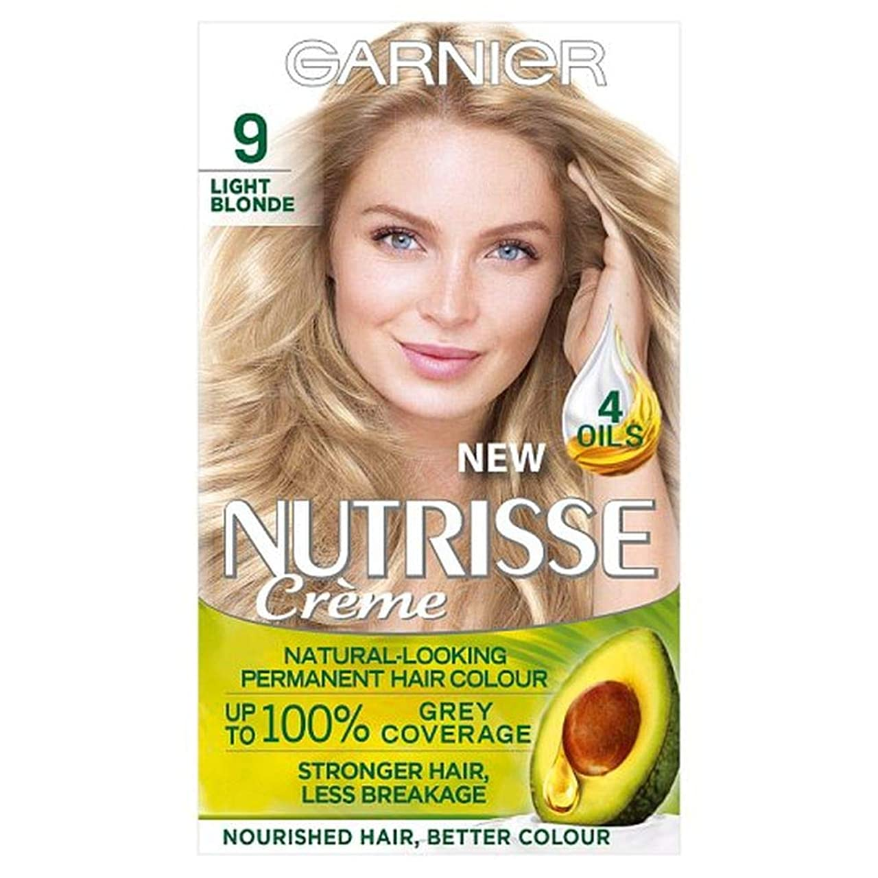 スパイ属するスポット[Nutrisse] ガルニエNutrisse 9ライトブロンドパーマネントヘアダイ - Garnier Nutrisse 9 Light Blonde Permanent Hair Dye [並行輸入品]