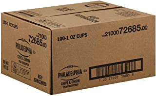 Kraft Philadelphia Chive and Onion Cream Cheese - Cup, 1 Ounce -- 100 per case.