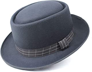 LiJuan Shen Fashion Men Women Pork Pie Hat Dad Wool Fedora Hat Trilby Hat Flat Dance Party Hat
