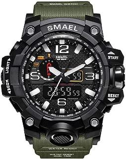 Men's Sports Analog Quartz Watches Dual Display Digital Watches LED Backlight Waterproof Military Multifunctional