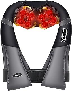 TAKRINK Masseur à Cou Épaule, Masseur cervical Shiatsu avec 18 Nœuds rouleaux de massage en 3D-Rotation, Direction et Vite...