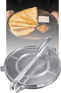 Gedeihen Prensa para Tortillas Maker Aluminio Prensa de Tortilla Estilo Mexicano al Estilo Mundial Sarten para Tortillas 20cm Diámetro