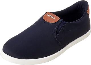 Salerno Stitched-Logo Side Elastic Band Textile Slip-on Shoes for Men