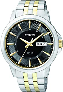 Citizen Mens Quartz Watch, Analog Display and Stainless Steel Strap - BF2018-52E