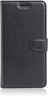 BLU R1 HD Case,BLUE R1 HD Wallet Cover PU Leather Folio Flip Case with Stand and Credit Card Slot Holder for BLU R1 HD (BLU R1 HD, Black)