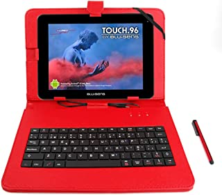 DURAGADGET Funda/Teclado Color Rojo En ESPAÑOL con Letra Ñ para Tablet Blusens Touch 96/97 / 73 DC / 97 QR con Conexión MicroUSB + Lápiz Stylus - Función Atril