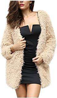 Forthery Plus Size Loose Boho Fuzzy Open Front Long Cardigans Popcorn Sherpa Slouchy Sweater Coats