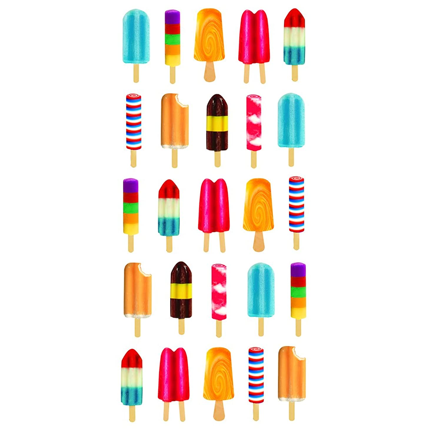 Paper House Productions STP-0056E Popsicles Stickers, Puffy