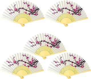 Onepine 扇子 絹 シルク 竹製工芸品扇 DIYの手描きの装飾 折りたたみ式 道具扇子 夏祭り 舞扇 歌舞小物