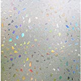 Niviy 3D Static Cling Window Film Stained Glass Window Film Decorative Frosted Window Clings Vinyl Window Covering 17.7Inch x 78.7Inch