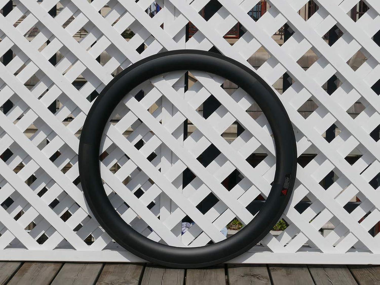 Flyxii Width 23mm Wide U Shape 60mm Cycling Wheel Rims 3K Carbon Glossy Bike Clincher Rim 700C Carbon Road Bicycle Rims 60mm (20, 24 Holes)