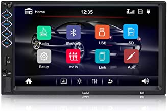 Digital Multimedia Universal Car Stereo with Bluetooth, Hieha 7 inch Double Din Touch..